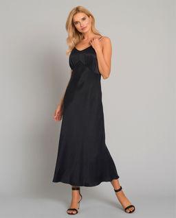 Czarna sukienka z jedwabiu Noli