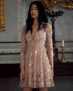 Růžové šaty Eleanor