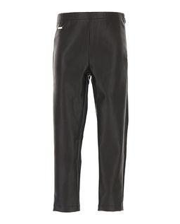 Czarne spodnie skórzane 8-16 lat