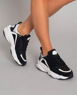 Sneakersy z zamszową skórą