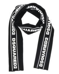 Czarny szalik z logo
