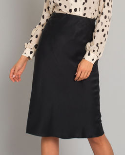 Czarna spódnica z jedwabiu Rita