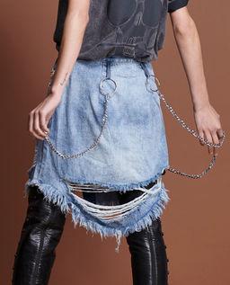Džínová sukně s řetězem