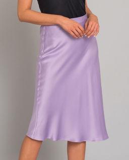 Fialová sukně z hedvábí Rita
