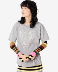 Szary t-shirt z tygrysem