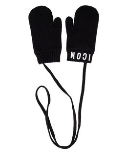 Czarne rękawiczki ICON 4-14 lat