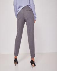 Szare spodnie w kant