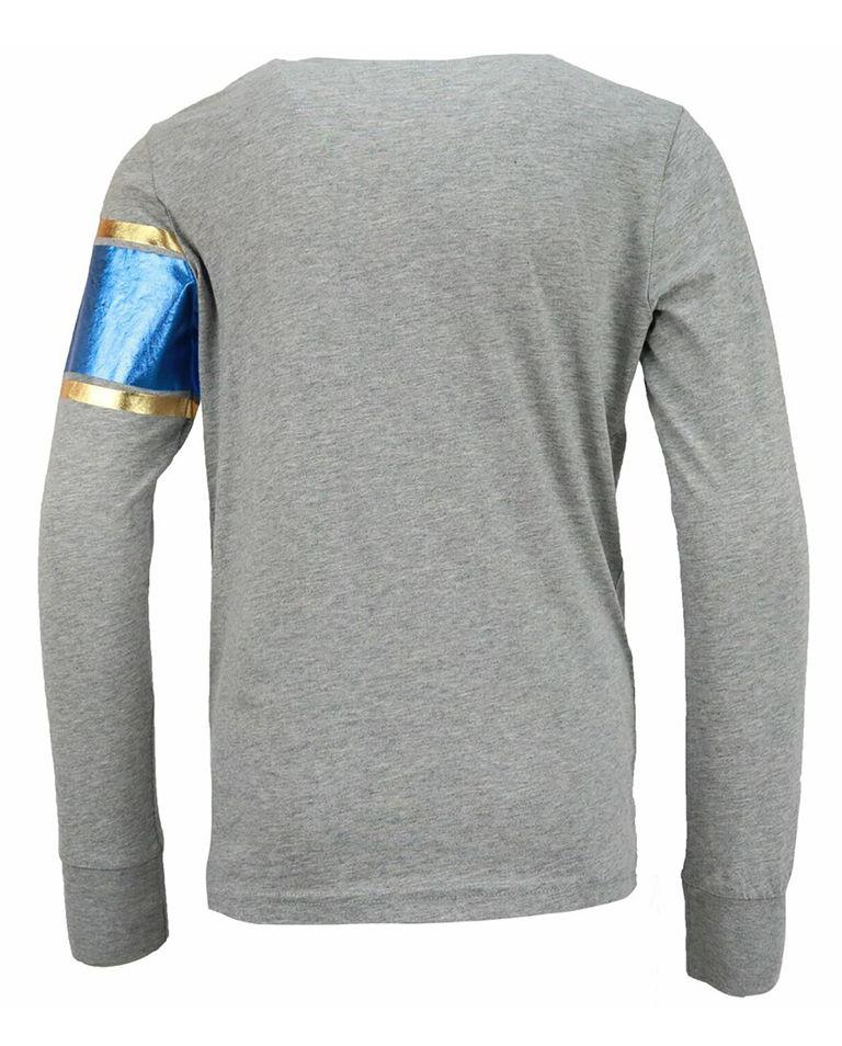 Szara bluza z metalicznym nadrukiem 6-16 lat
