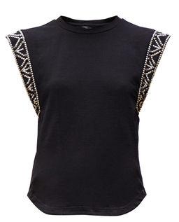 Czarna bluzka bez rękawów