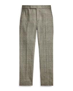 Wełniane spodnie w kratę