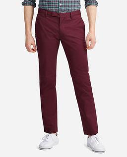 Bordowe spodnie Slim Fit