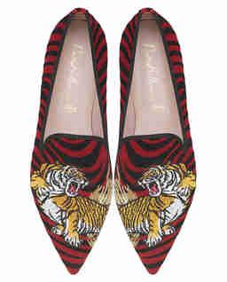 Loafery w zębrę z tygrysami