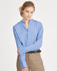 Niebieska bluzka z jedwabiu
