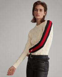 Bawełniany sweter z lampasami