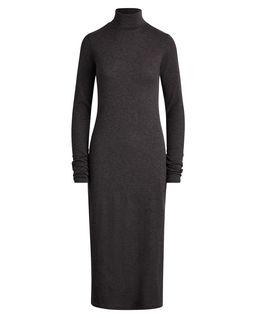Wełniana sukienka z golfem