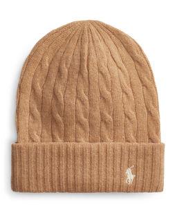 Beżowa czapka z kaszmirem