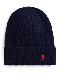 Granatowa czapka z kaszmirem