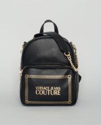 Czarny plecak z logo marki