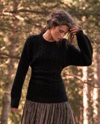 Wiązany sweter wełniany Adonis