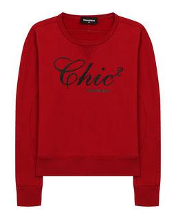 Czerwona bluza z bawełny
