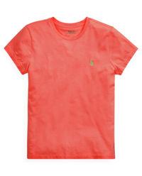 Pomarańczowy t-shirt z logo