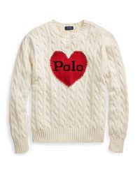 Bawełniany sweter z sercem