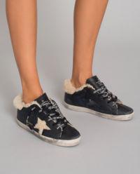Sneakersy Superstar z kożuchem