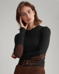 Sweter z naszywkami