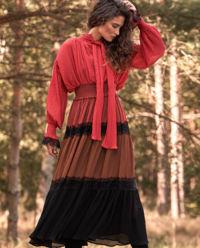 Sukienka maxi w stylu boho Dionysius