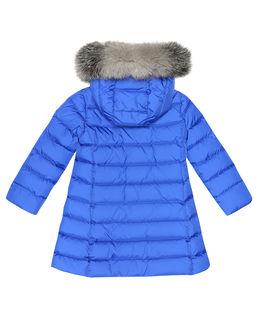 Niebieski płaszcz puchowy 4-14 lat