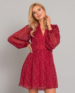 Czerwona sukienka z jedwabiu Moscou