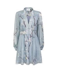 Błękitna sukienka z jedwabiu Moscou