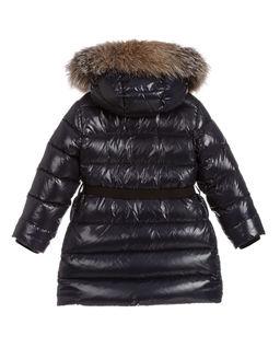 Granatowy płaszcz puchowy 5-12 lat