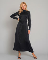 Czarna sukienka z jedwabiu Ellera
