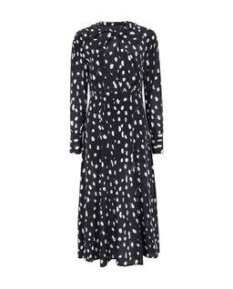 Czarna sukienka z jedwabiu Vivans