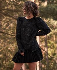 Sukienka tweedowa boucle z delikatnymi cekinami Athena