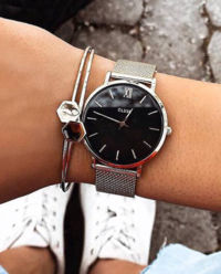 Zegarek Minuit Silver Black/Silver