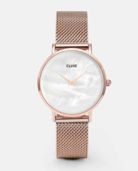Zegarek La Perle Rose Gold White
