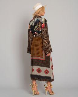Jedwabne kimono we wzory