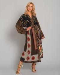 Hedvábné kimono se vzory