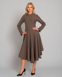 Brązowa sukienka z wełny