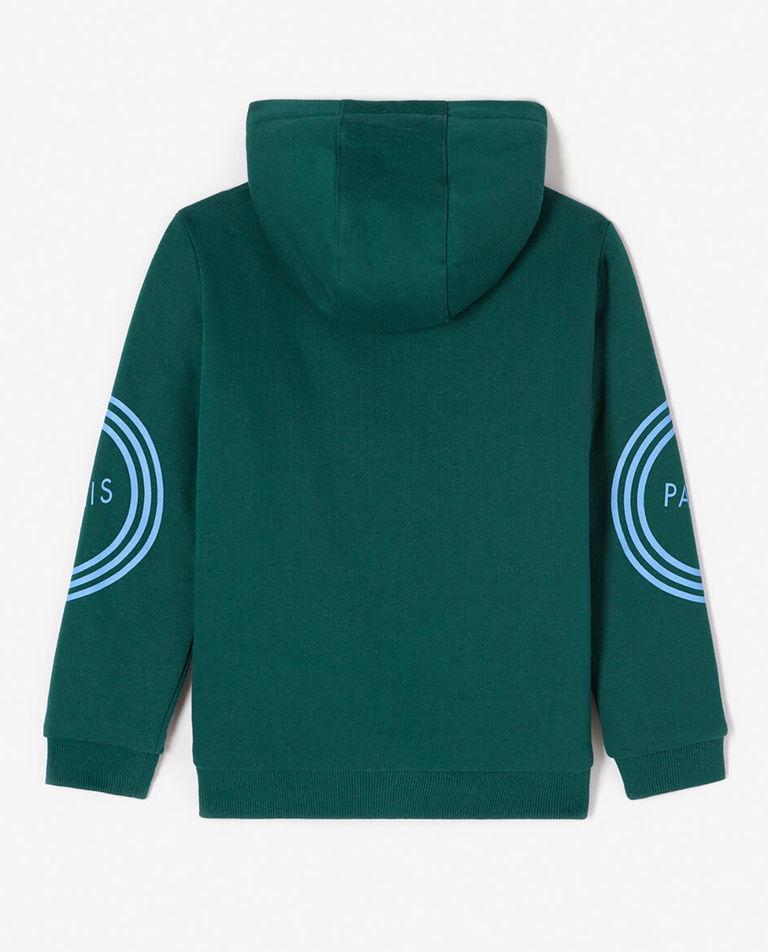 Zielona bluza z kapturem 3-14 lat