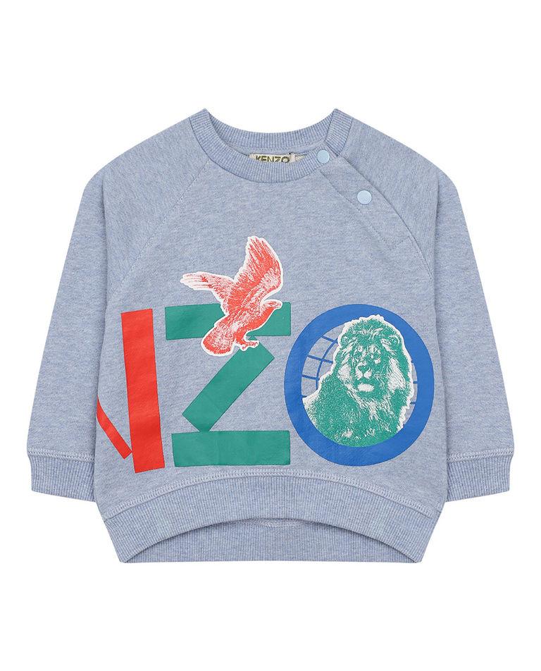 Niebieska bluza z nadrukiem 0-4 lata