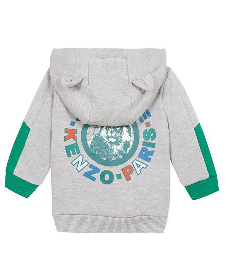 Szara bluza z kapturem 0-4 lata