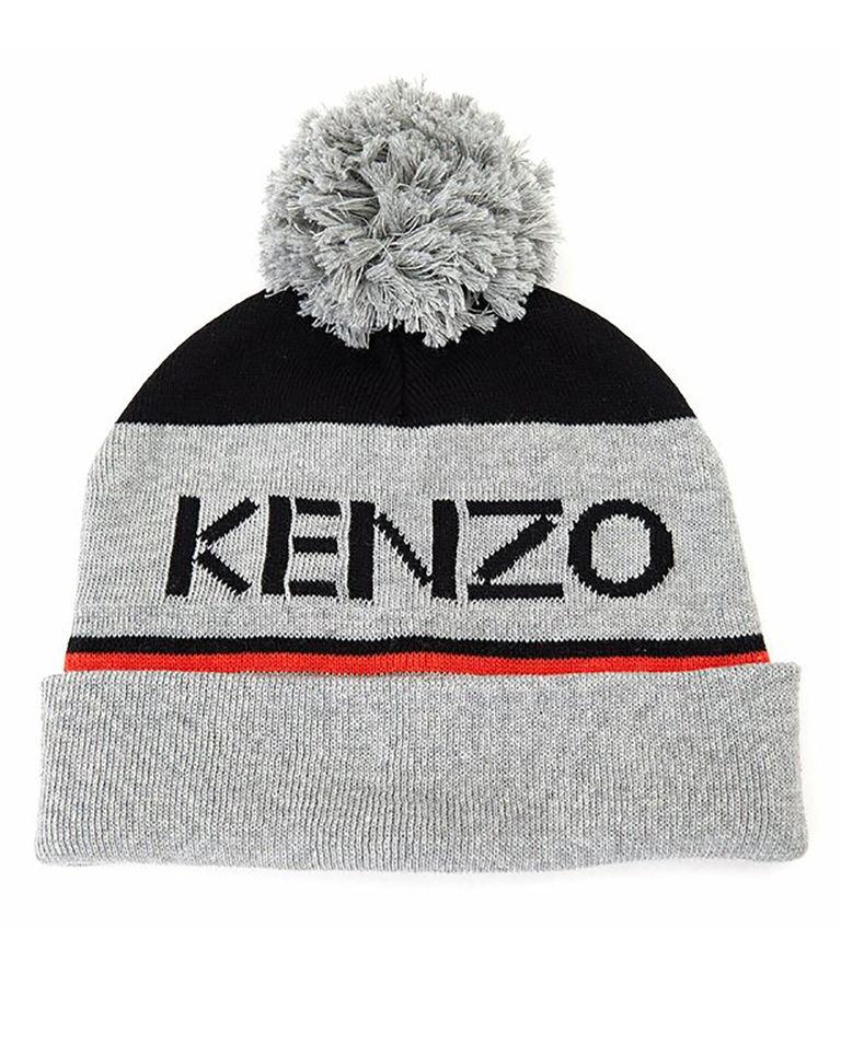 Szara czapka z logo 2-14 lat