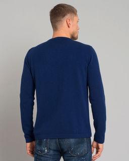 Wełniany sweter z wzorem skarabeusza
