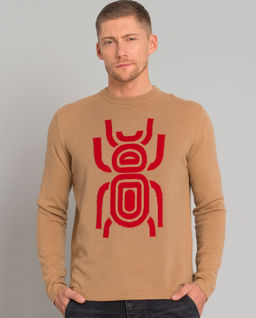 Kaszmirowy sweter ze skarabeuszem