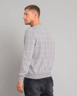 Wełniany sweter w kratę
