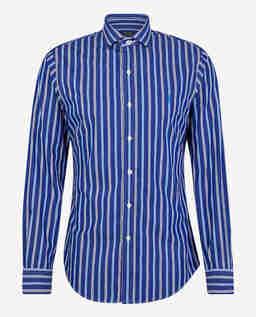Niebieska koszula w paski Classic Fit
