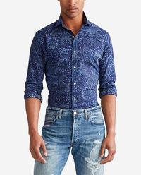Niebieska koszula w kwiaty